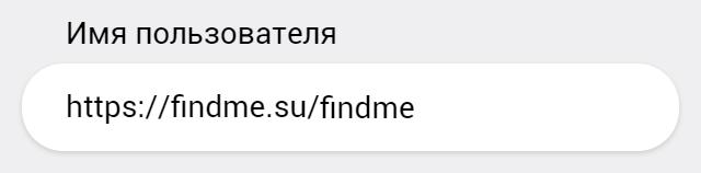 Поле ввода URL